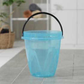 Ведро «Лайт», 8 л, цвет прозрачно-голубой