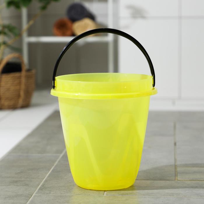 Ведро 8 л Лайт, цвет прозрачный желтый