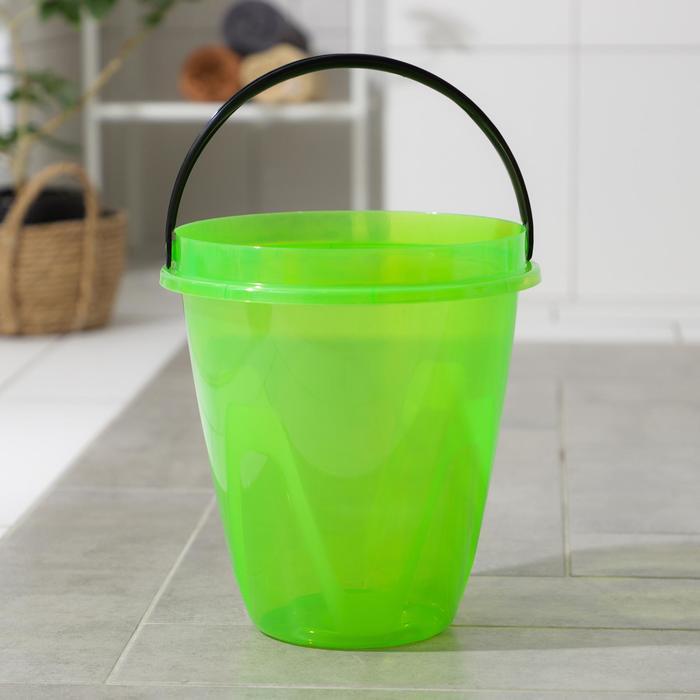 Ведро 8 л Лайт, цвет прозрачный зеленый