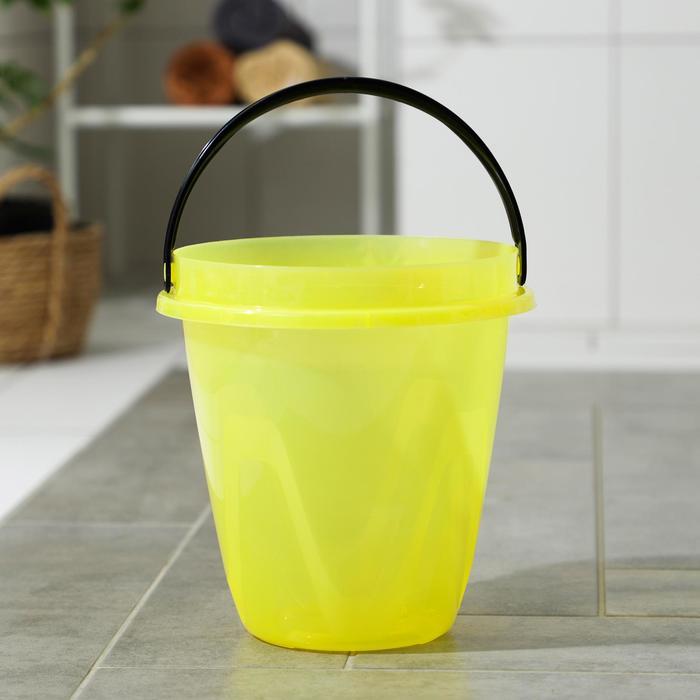 Ведро 10 л Лайт, цвет прозрачный желтый