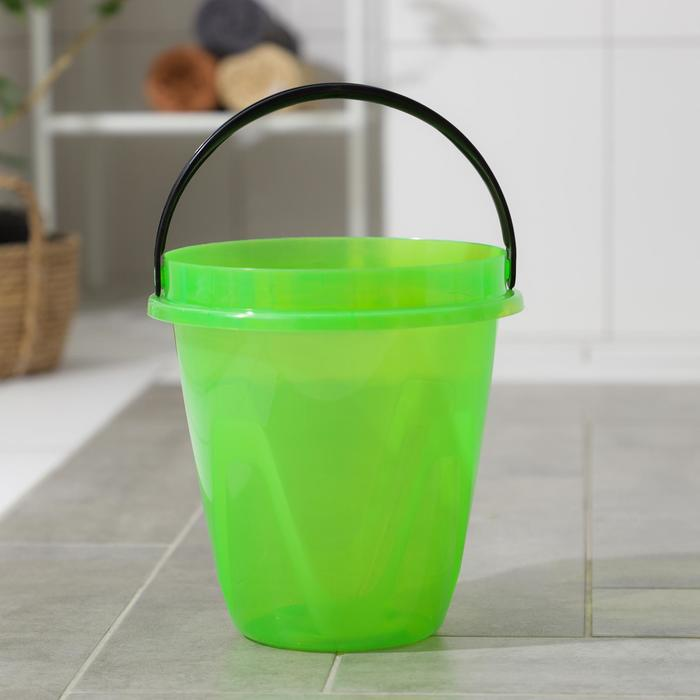 Ведро 10 л Лайт, цвет прозрачный зеленый