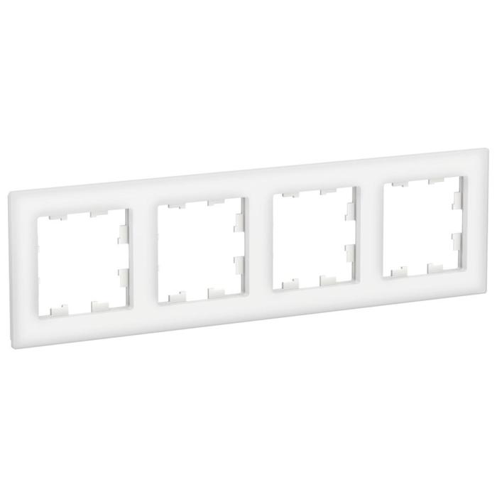 Рамка SE ATLASDESIGN NATURE, 4-постовая, орг.стекло, белый
