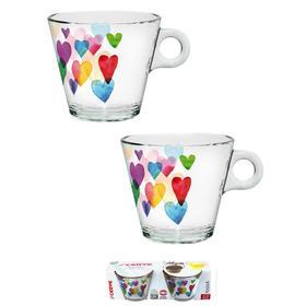 Набор из 2 чашек для чая «Лав Рэйнбоу», 280 мл