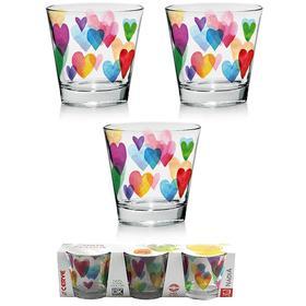 Набор стаканов «Лав Рэйнбоу», 250 мл, 3 шт