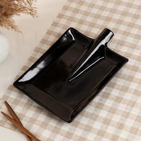 """Блюдо для подачи """"Лопата"""", чёрное, 24.5 см"""