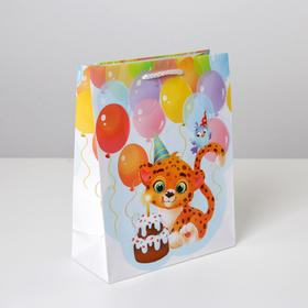 Пакет ламинированный «С Днём рождения», MS 18 х 23 х 8 см