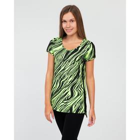 Костюм (комплект) женский (футболка, леггинсы), цвет салатовый, размер 52 Ош