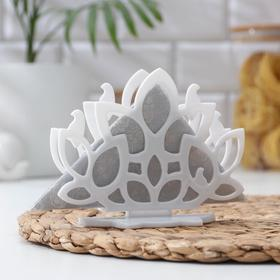 Салфетница Verona, 13,9×5,8×10,5 cм, цвет белый