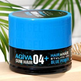 Гель для укладки волос (синяя банка) AGIVA Hair Gum Blue Power 04+ , 700 мл