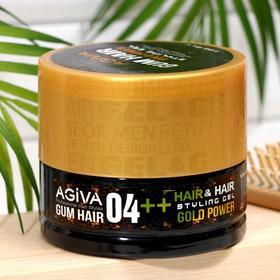 Гель для укладки волос (золотая банка) AGIVA Hair Gum Gold Power 04++ , 700 мл