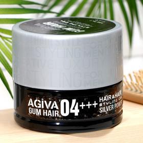 Гель для укладки волос AGIVA Hair Gum Silver Power 04+++, серебряный, 700 мл