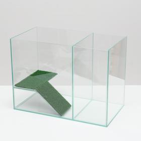Аквариум-террариум с мостиком 30 литров, без крышки, 42 x 22,5 x 31 см Ош