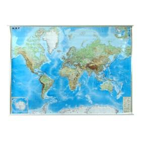 Карта Мира обзорная 190 х 140 см, 1:15 М