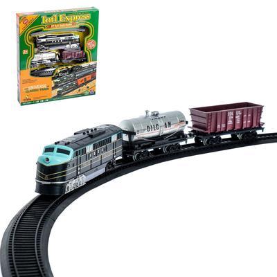 Железная дорога «Экспресс», со световыми эффектами, протяжённость пути 3,6 м, уценка (помята упаковка) - Фото 1
