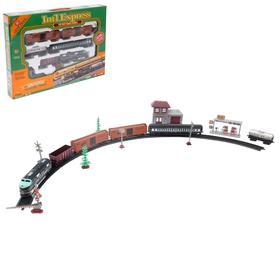 Железная дорога «Большой экспресс», со светозвуковыми эффектами, протяжённость пути 4,03 м, уценка (помята упаковка)