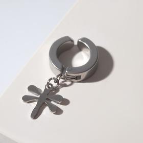 Моно-серьга 'Стрекоза', цвет серебро Ош