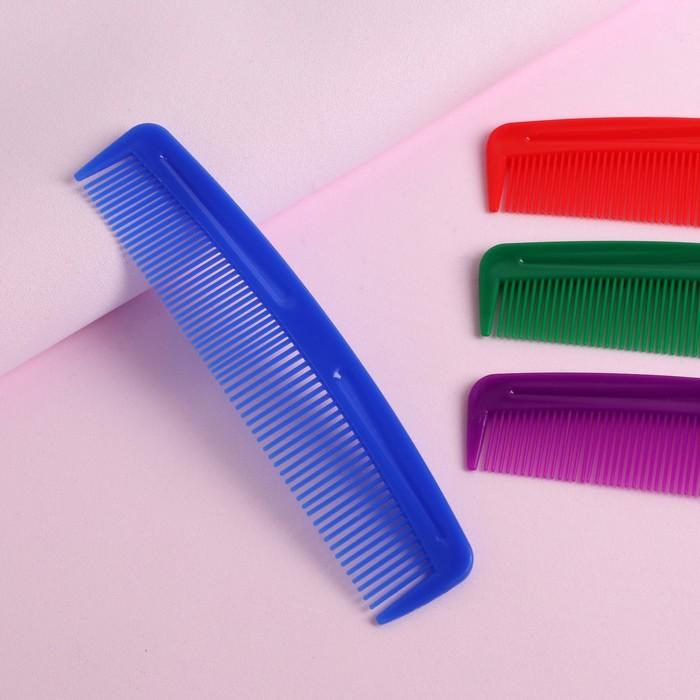 Расчёска комбинированная, 12,5 3 см, цвет МИКС
