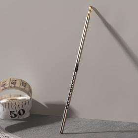 Ручка по коже, смывающаяся, цвет серебряный Ош