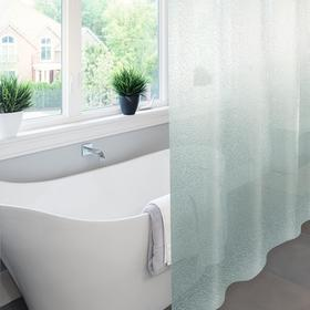 Штора для ванной комнаты Meiwa Krackle, 182х182 см, ПВХ