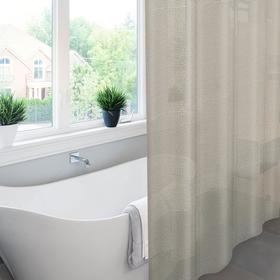 Штора для ванной комнаты Meiwa Pebbles, 182х182 см, ПВХ, цвет серый