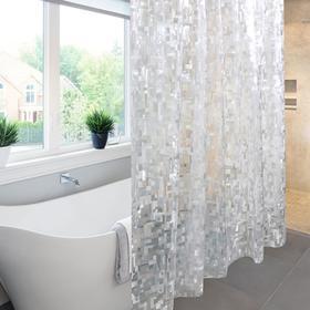 Штора для ванной комнаты Meiwa Vision, 182х182 см, ПВХ, прозрачная