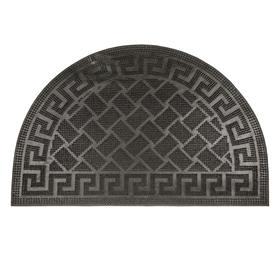 Коврик резиновый «Акрополь», 40х60 см, полуовал, цвет чёрный