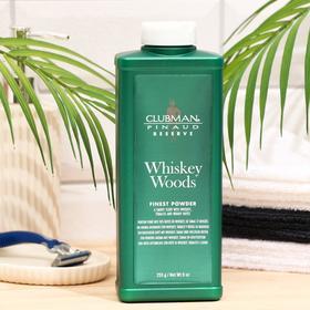 Тальк универсальный с запахом виски, Clubman Whiskey Woods Powder Тальк, 255 гр
