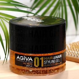 Гель для волос AGIVA Hair Gel 01 Wet Look, мокрая причёска, 700 мл