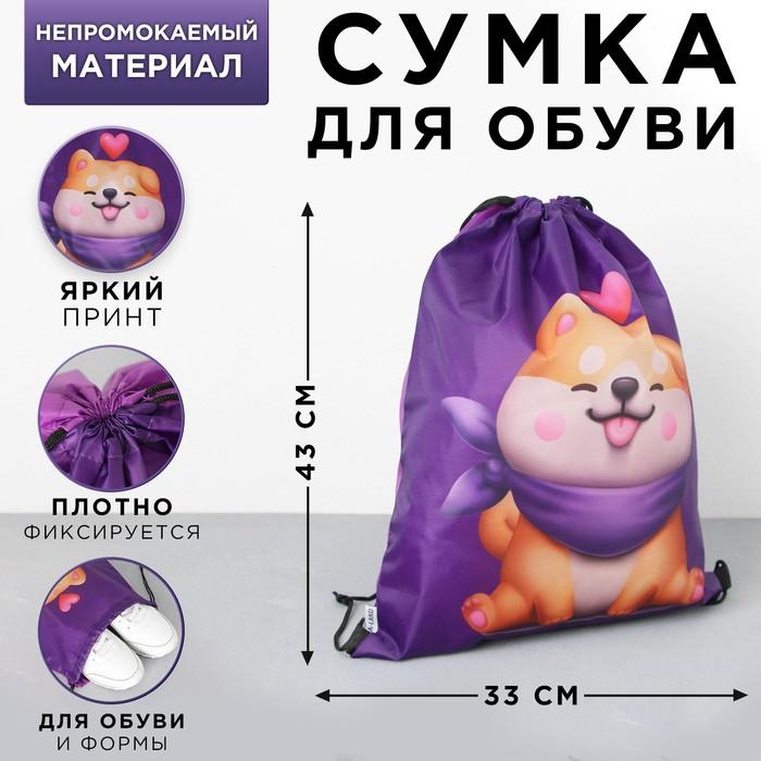 Болоневая сумка для обуви Love siba, 33х43х0,5 см