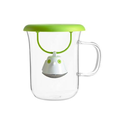 Кружка с заварочной ёмкостью Birdie Swing 400 мл, зеленый - Фото 1