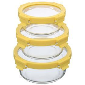 Набор из 3 круглых контейнеров для еды