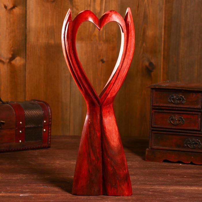 "Абстракция ""Сердце в руках"" 40 см, суар"