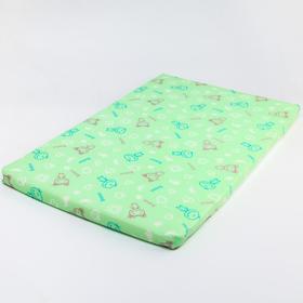 Матрас детский для пеленания 43х69 см., цвет зелёный