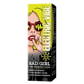 Краска для волос Bad Girl Electric Vibe, неоновый жёлтый, 150 мл