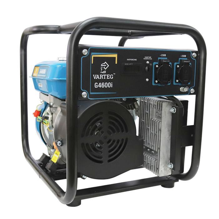 Бензиновый инверторный генератор VARTEG G4600i, 4 кВт, 7 л.с, 2х220 В/16 А, ручной старт