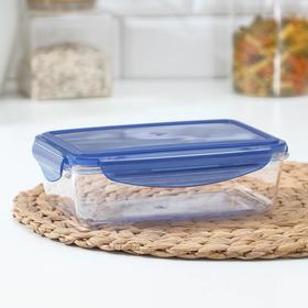 Контейнер для продуктов BRILLIANT, 1 л, герметичный, прямоугольный, цвет синий
