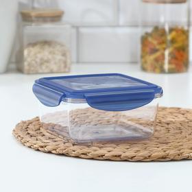 Контейнер для продуктов BRILLIANT, 1,15 л, герметичный, квадратный, цвет синий