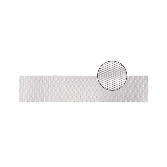 Облицовка радиатора алюминий, 100 х 20 см, серебро, ячейки 10 мм х 4 мм