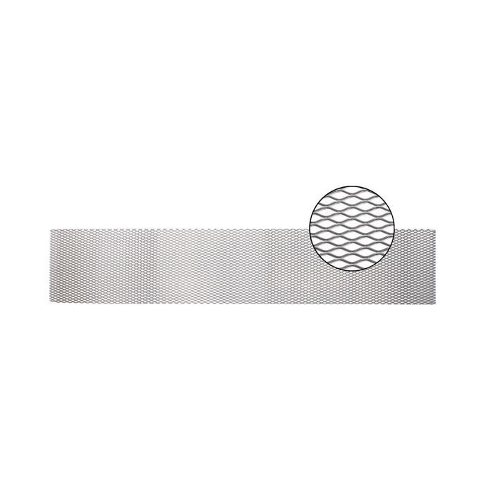 Облицовка радиатора алюминий, 100 х 20 см, серебро, ячейки 16 мм х 6 мм