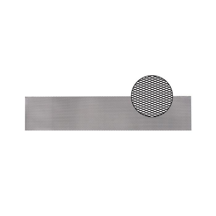 Облицовка радиатора алюминий, 100 х 20 см, черная, ячейки 10 мм х 4 мм
