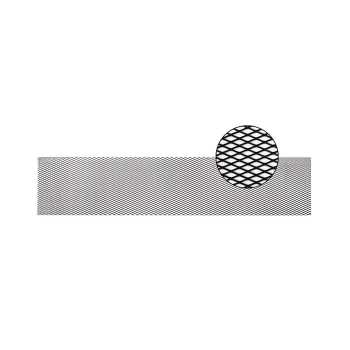 Облицовка радиатора алюминий, 100 х 20 см, черная, ячейки 16 мм х 6 мм
