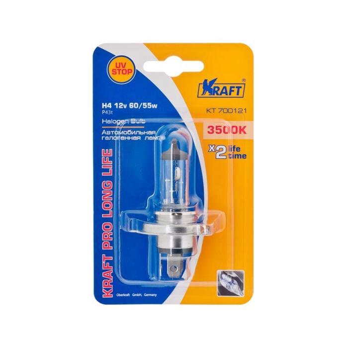 Автолампа H4, 12v60/55w, (P43t), Kraft Pro Long Life