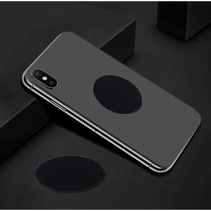 Пластина для магнитных держателей, диаметр 4 см, самоклеящаяся, черная