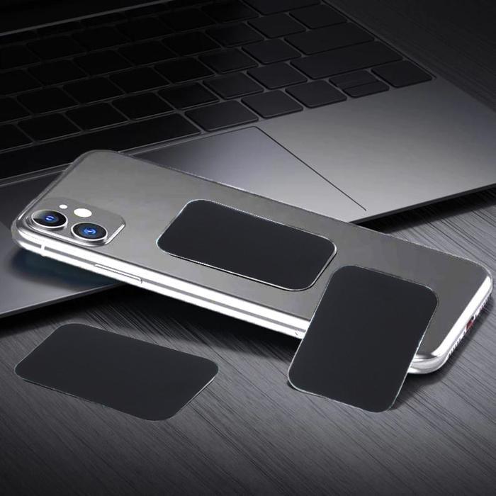 Пластина для магнитных держателей, 3.85 см, самоклеящаяся, черная