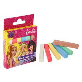 """Мел 6 цветов """"Барби"""", картонная упаковка, европодвес"""