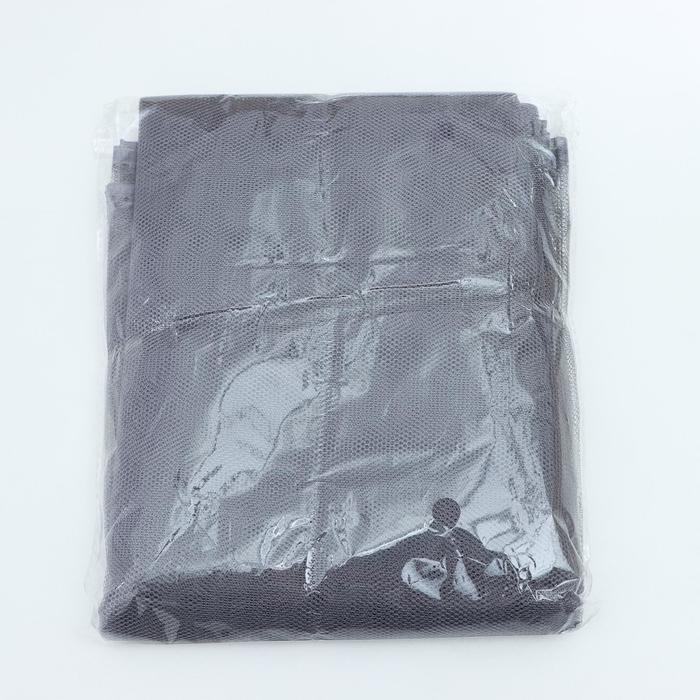 Сетка антимоскитная на окна, 150130 см, крепление на липучку, цвет серый