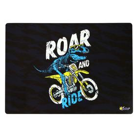 Накладка на стол пластиковая А4, 339*244 (+/- 5 мм), 500 мкм, для мальчика Dino ride Ош