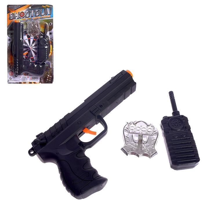 Набор полицейского Рука правосудия, с пистолетом-трещоткой