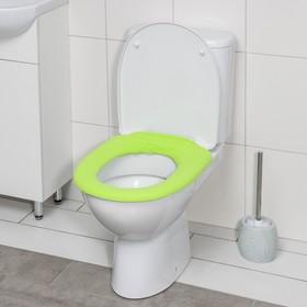 Чехол на сиденье для унитаза на резинке, 28×28 см, цвет МИКС Ош