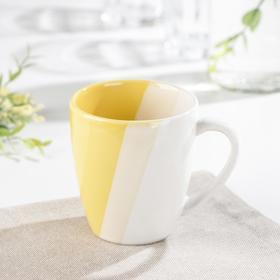 Кружка «Полоски», 240 мл, цвет жёлтый